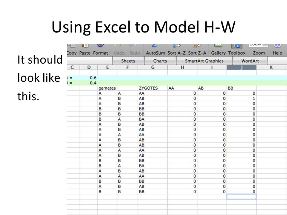 Using Excel to Model H-W