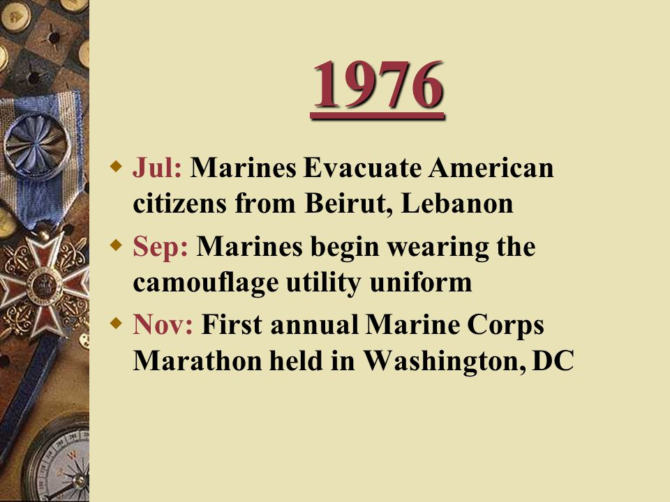1976 Jul: Marines Evacuate American citizens from Beirut, Lebanon