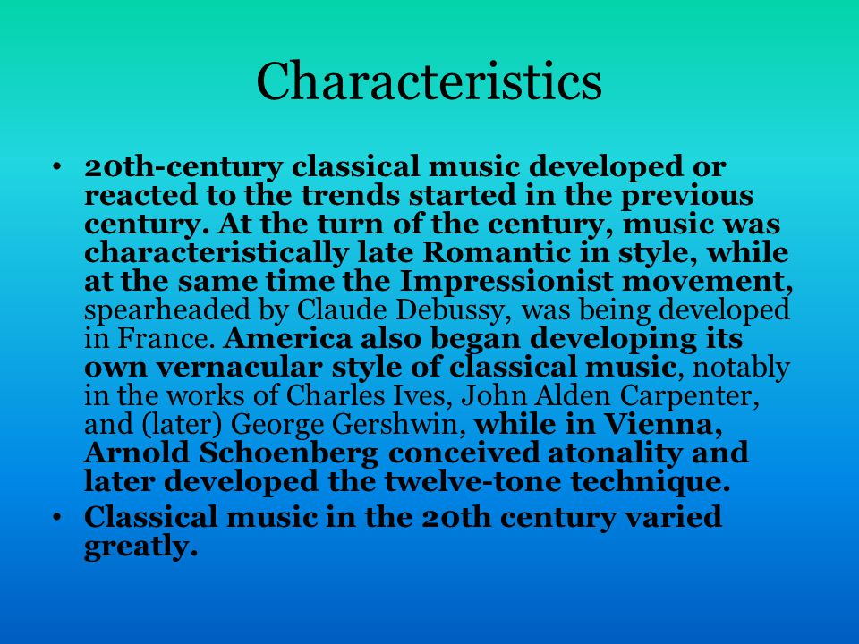 What musical characteristics define the Contemporary ...
