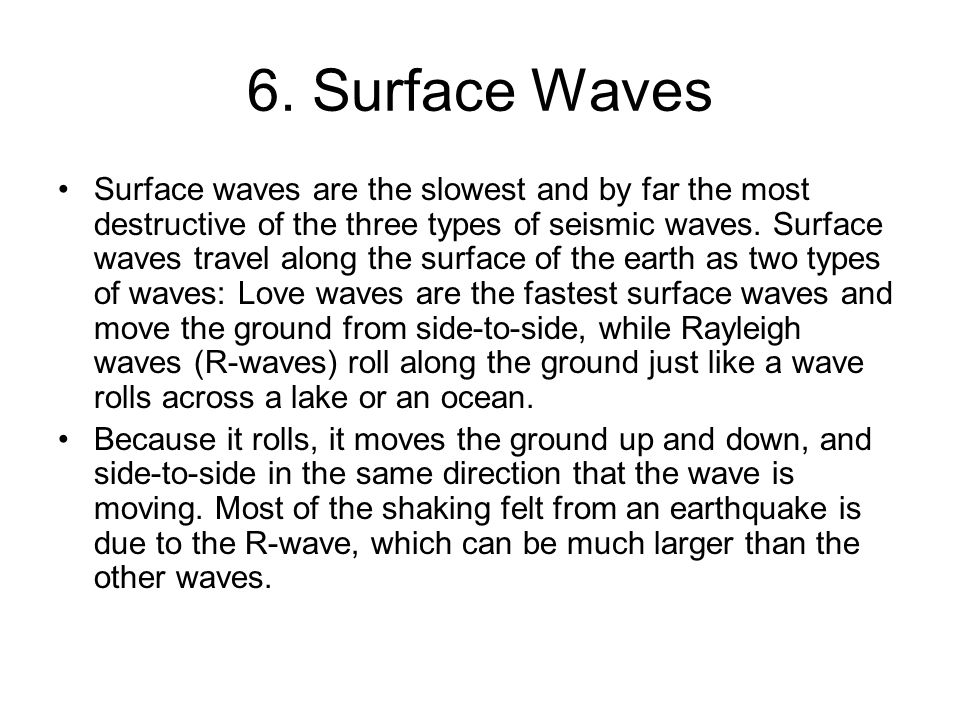6. Surface Waves