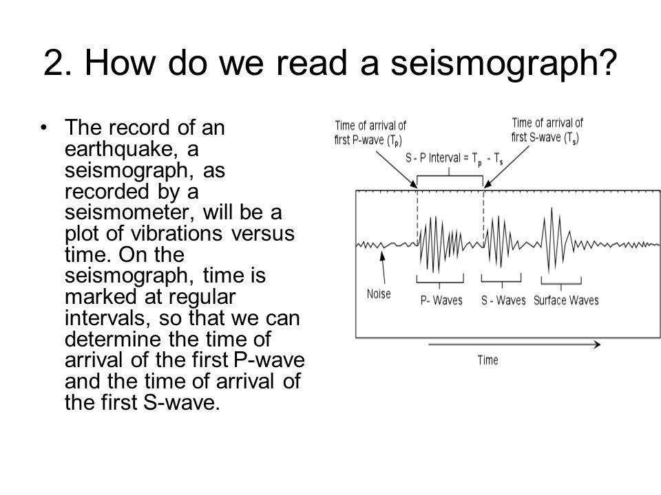 2. How do we read a seismograph