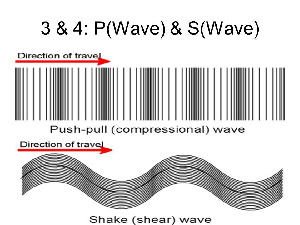 3 & 4: P(Wave) & S(Wave)