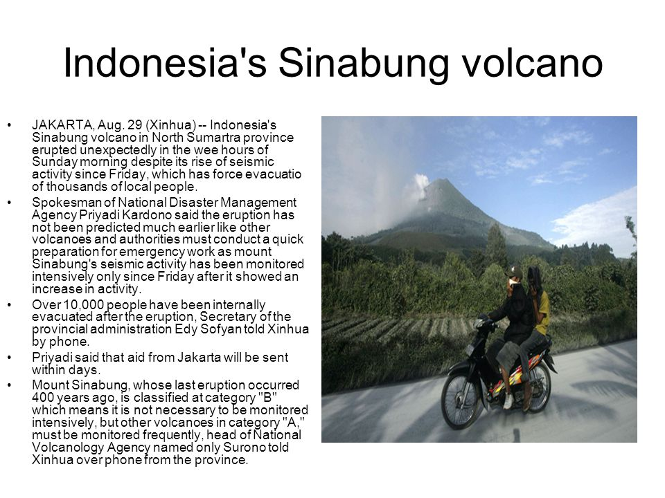 Indonesia s Sinabung volcano