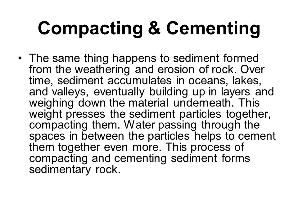 Compacting & Cementing