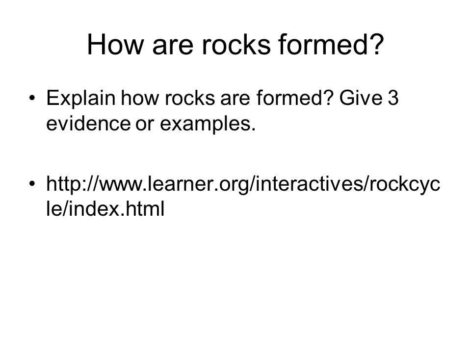 8.6.2 Earth Materials Illustrate the rock cycle and explain how ...