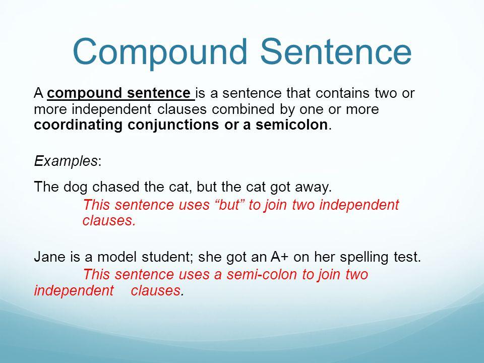 Compound Sentence