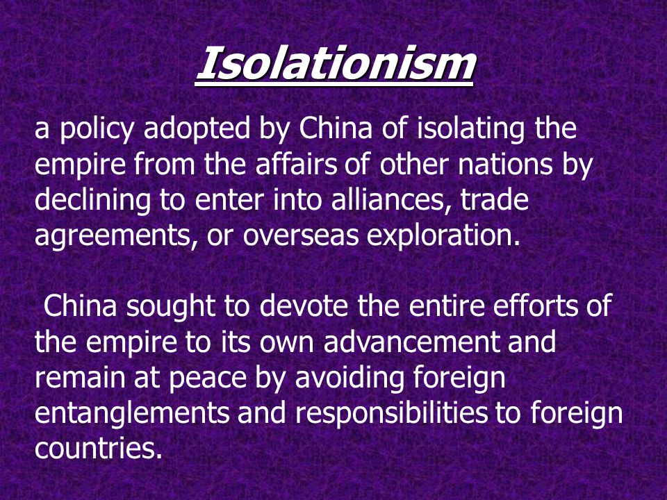 positives and negatives of isolationism I think it was better for britain to be in splendid isolationism because she could keep all of her affairs to herself without having to consult other countries or allies before making decisions or help them in situations it also kept them neutral so that there was no unnecessary conflict at the .