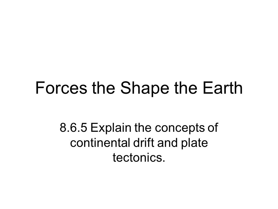 Forces the Shape the Earth