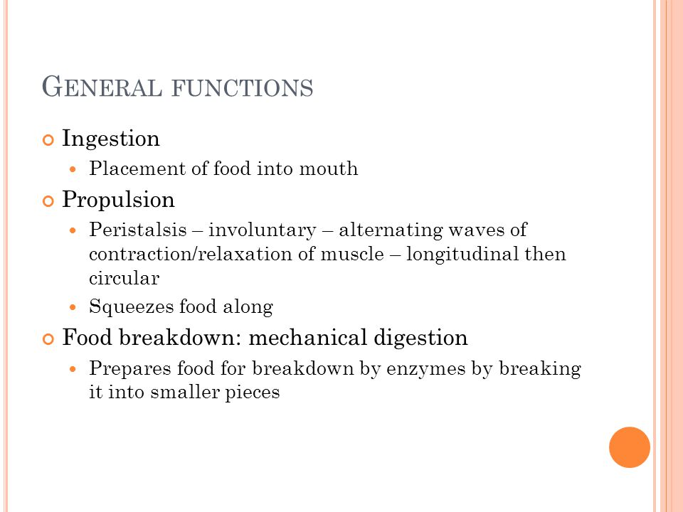 General functions Ingestion Propulsion