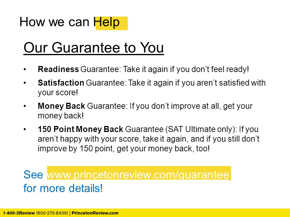 Our Guarantee to You How we can Help
