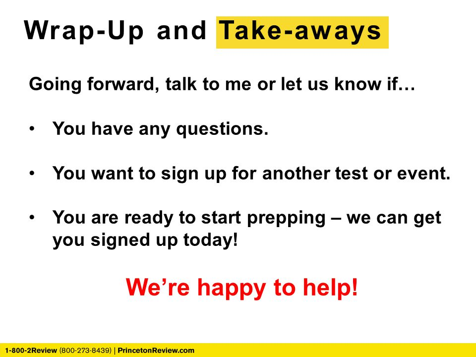 Wrap-Up and Take-aways