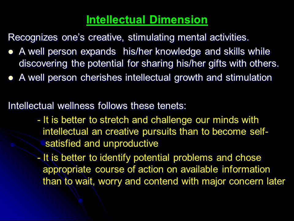 Intellectual Dimension
