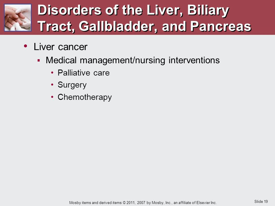 Disorders of the Liver, Biliary Tract, Gallbladder, and Pancreas