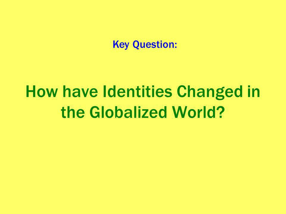How have Identities Changed in the Globalized World