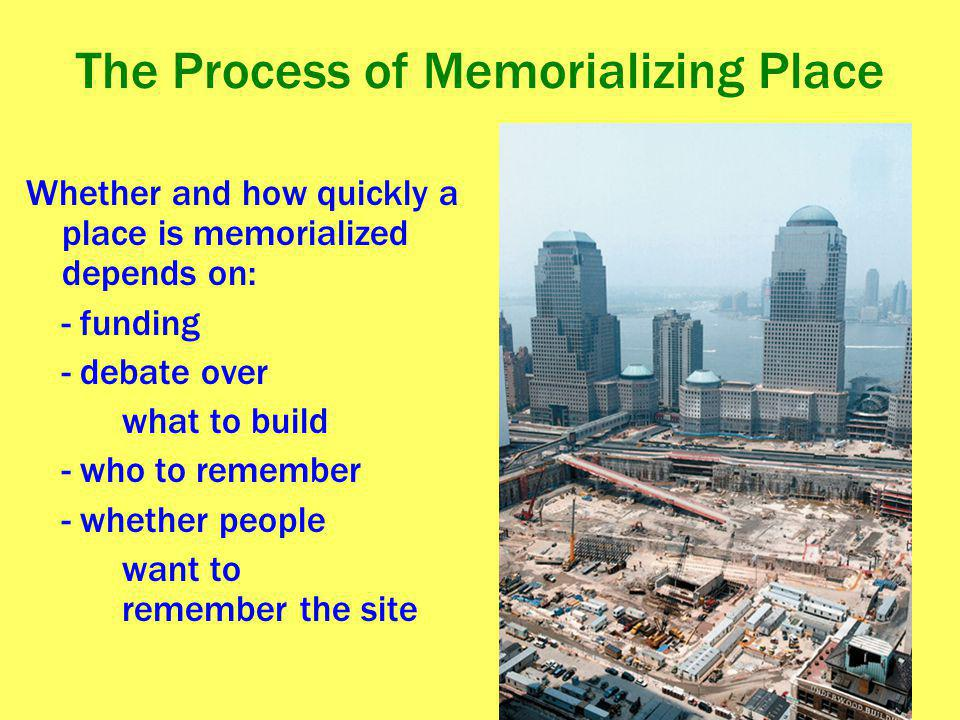 The Process of Memorializing Place