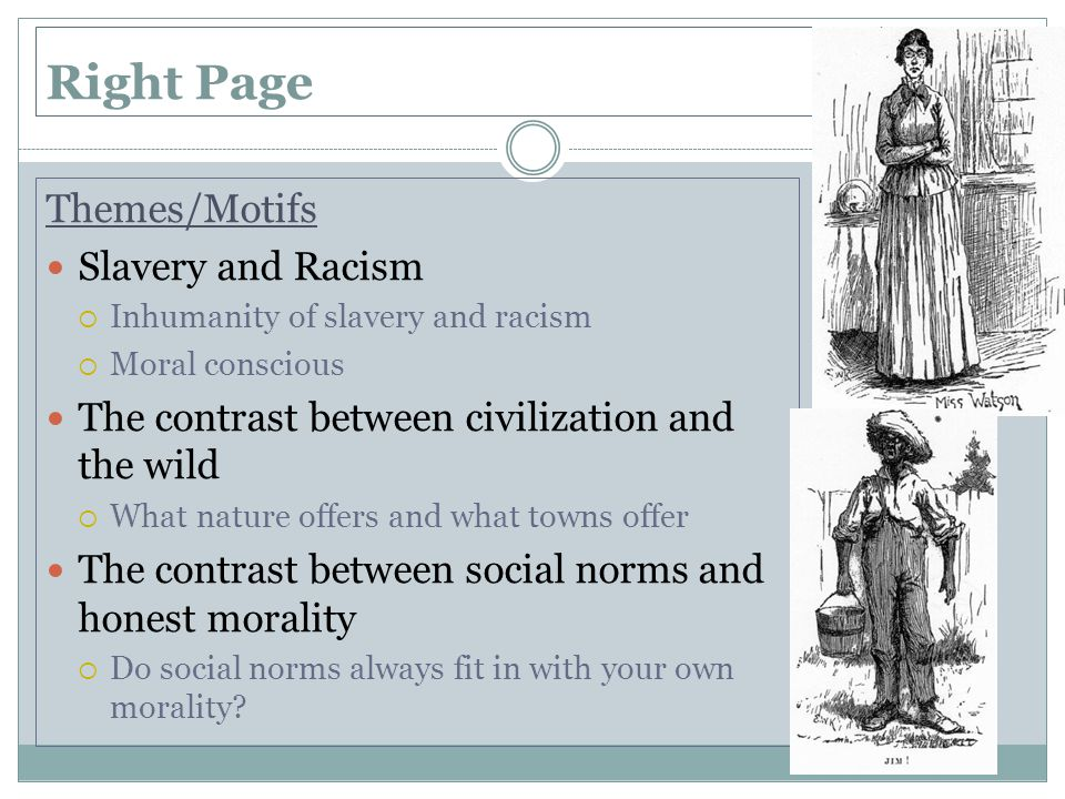 Right Page Themes/Motifs Slavery and Racism