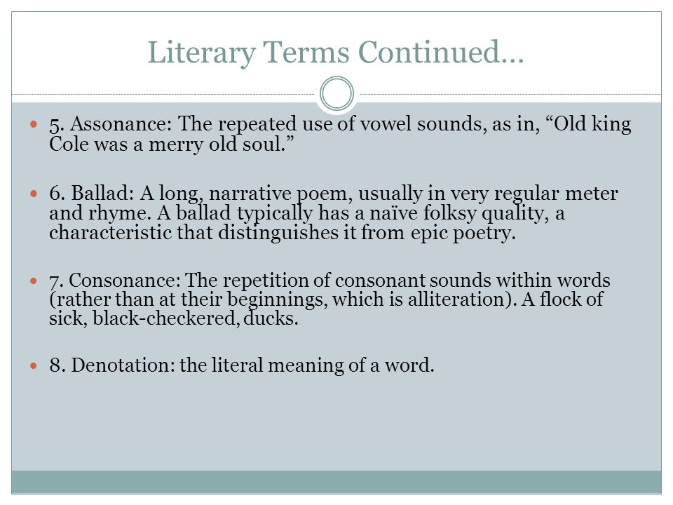 Literary Terms Continued…