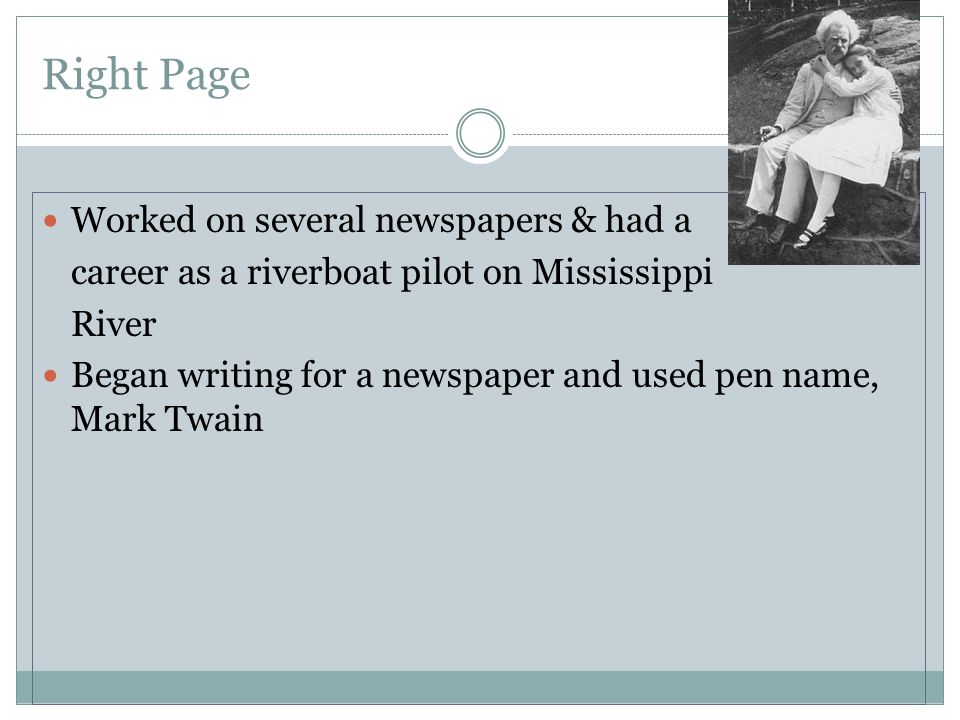 Right Page Worked on several newspapers & had a