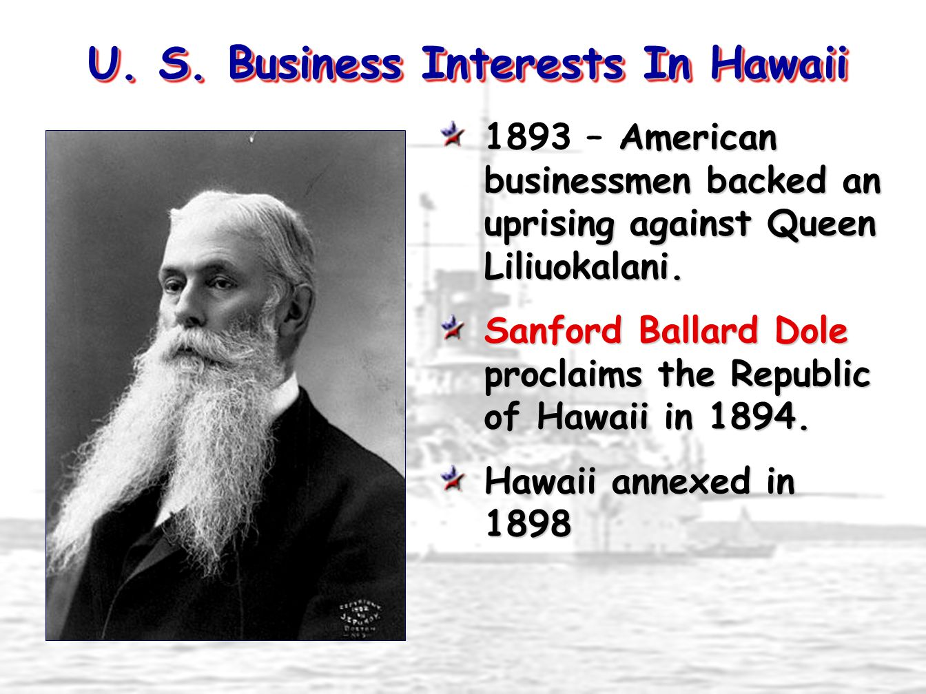 U. S. Business Interests In Hawaii