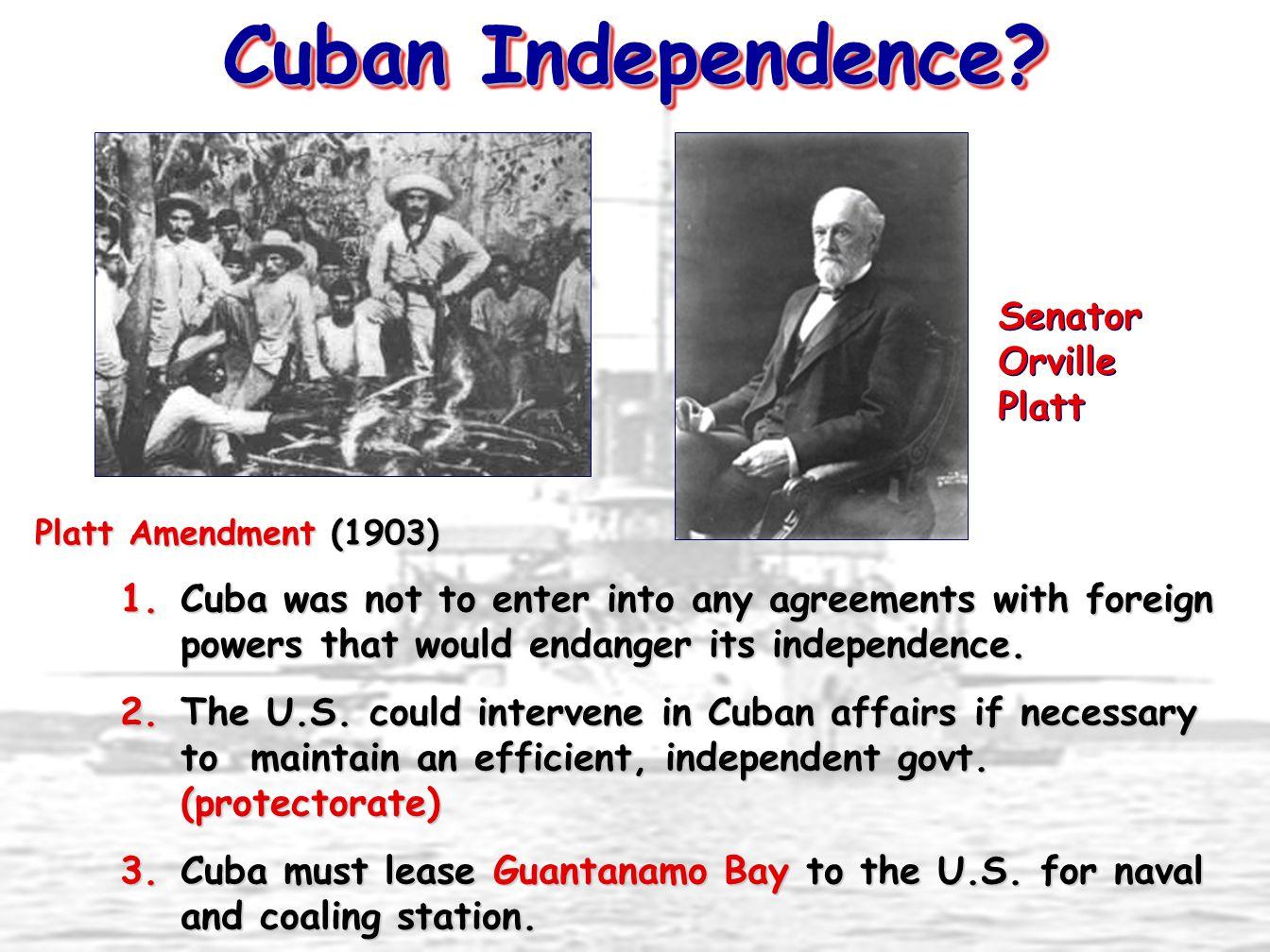 Cuban Independence Senator Orville Platt