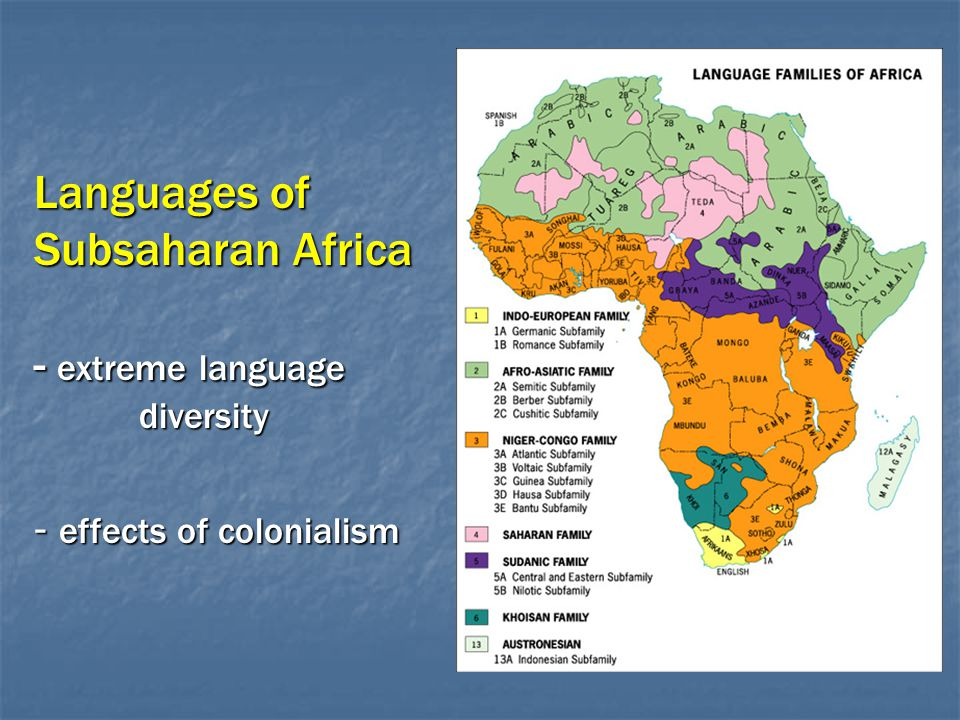 Languages of Subsaharan Africa - extreme language