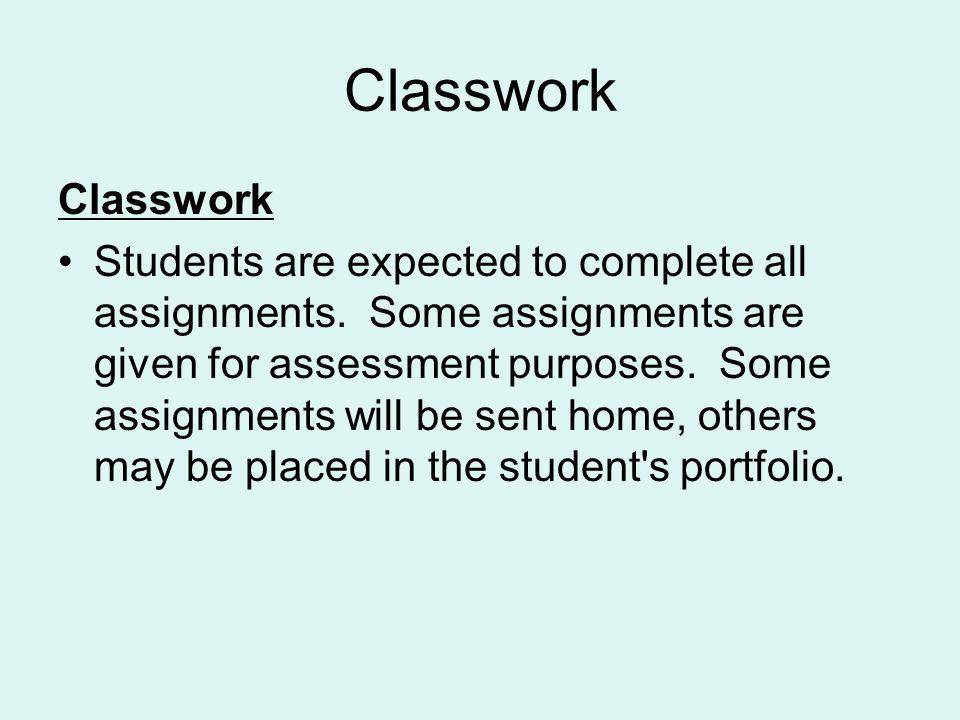 Classwork Classwork.