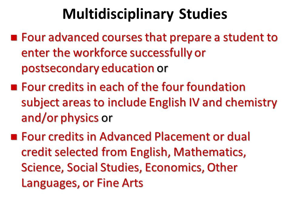 Multidisciplinary Studies