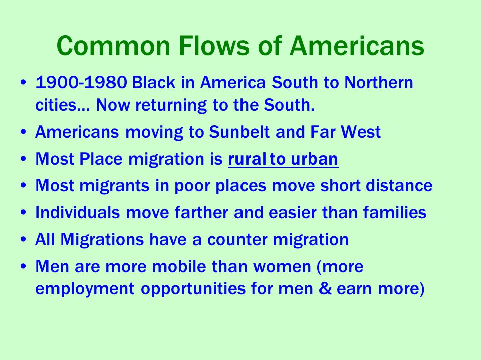 Common Flows of Americans
