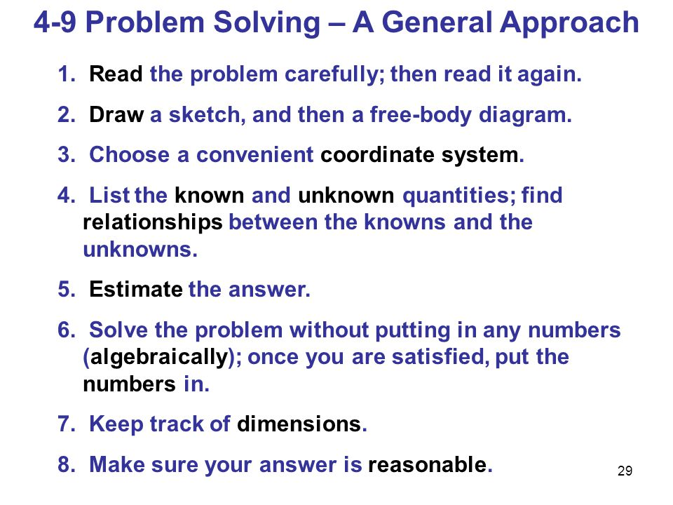 4-9 Problem Solving – A General Approach