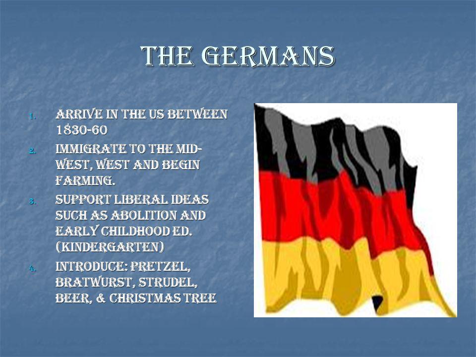The Germans Arrive in the US between 1830-60