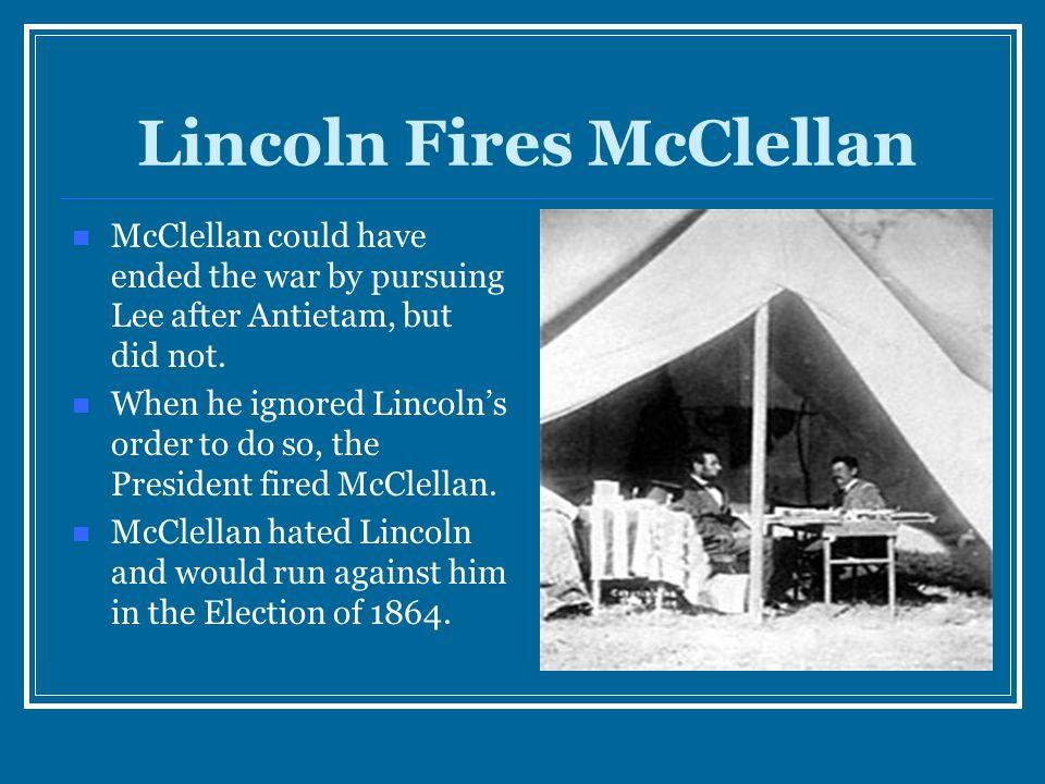 Lincoln Fires McClellan