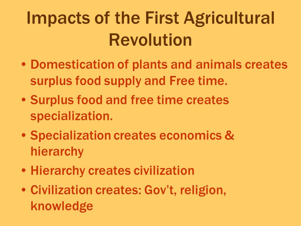 Impacts of the First Agricultural Revolution