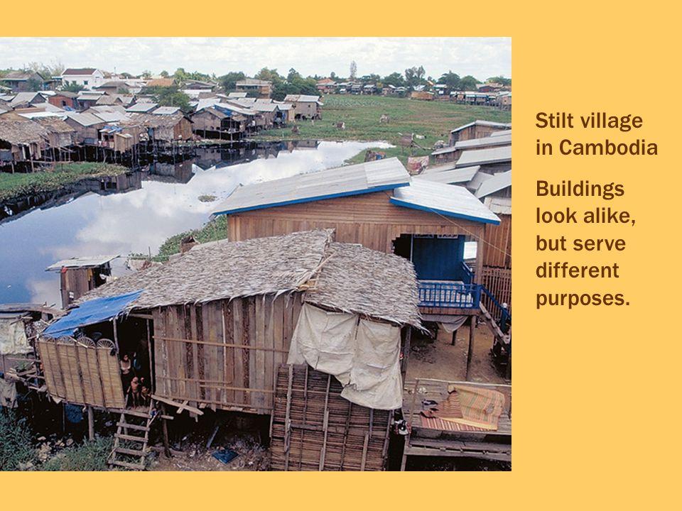 Stilt village in Cambodia