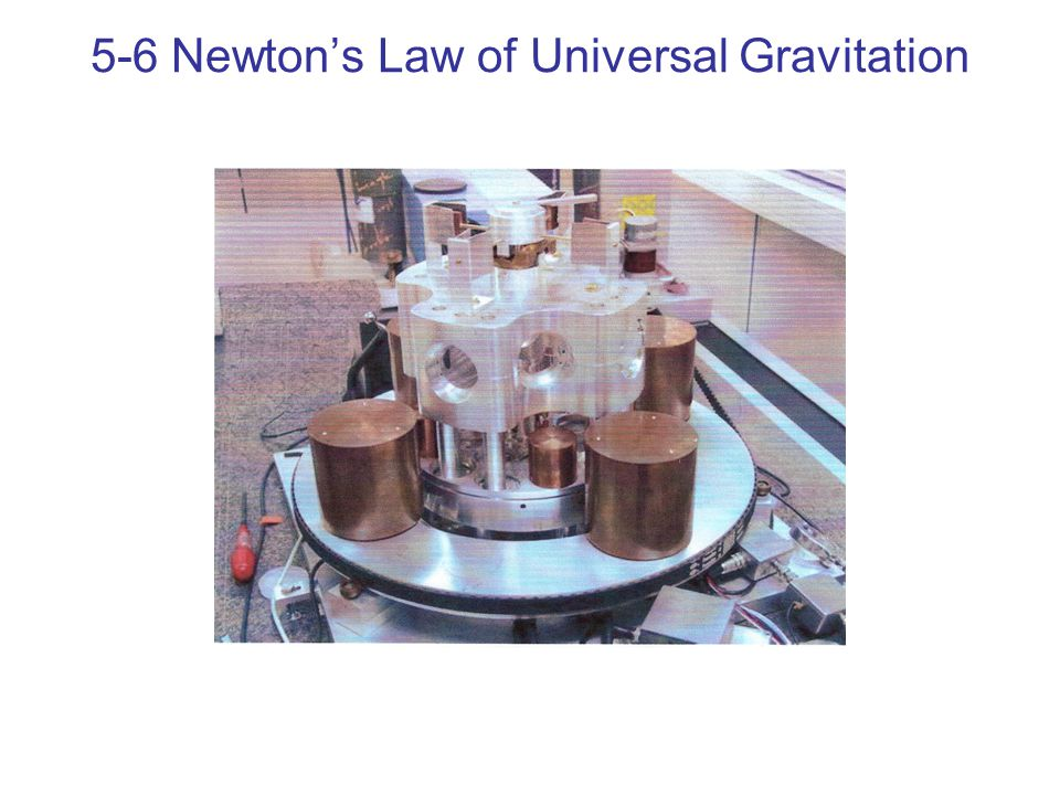 5-6 Newton's Law of Universal Gravitation