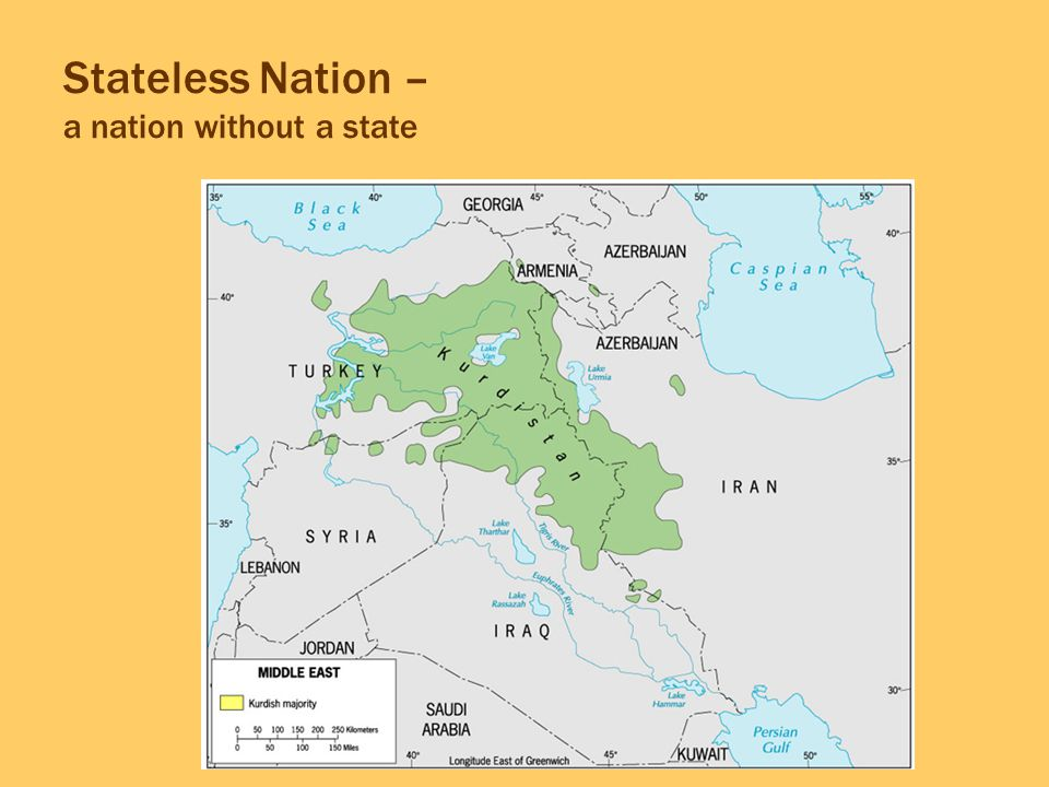 Stateless Nation – a nation without a state