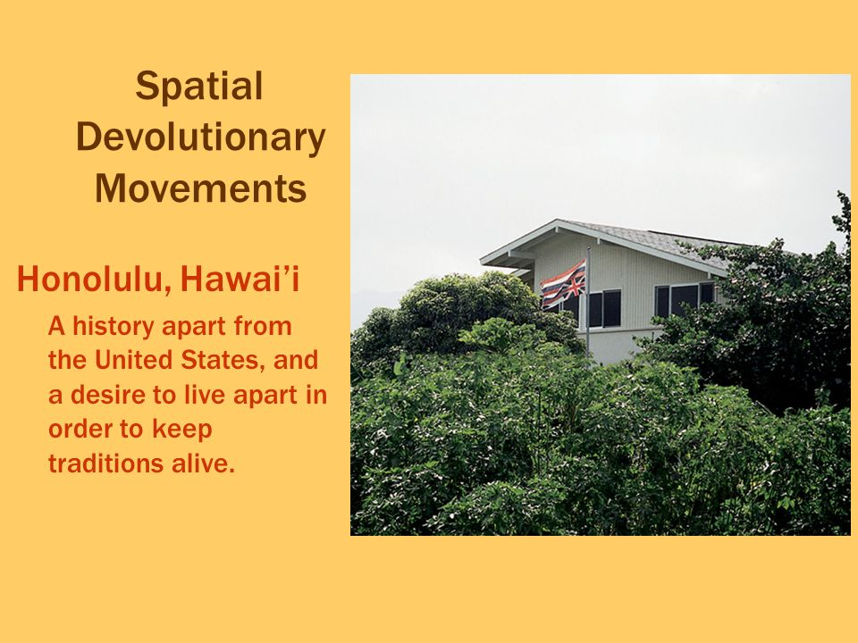Spatial Devolutionary Movements