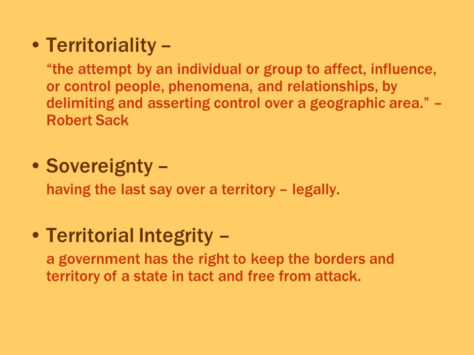 Territorial Integrity –