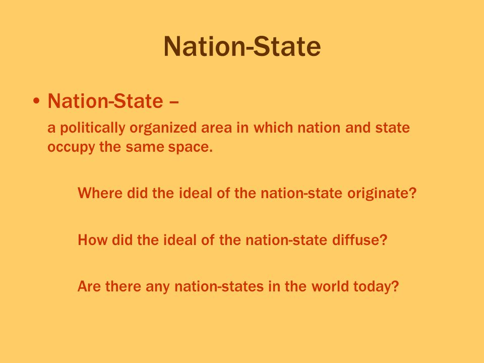 Nation-State Nation-State –