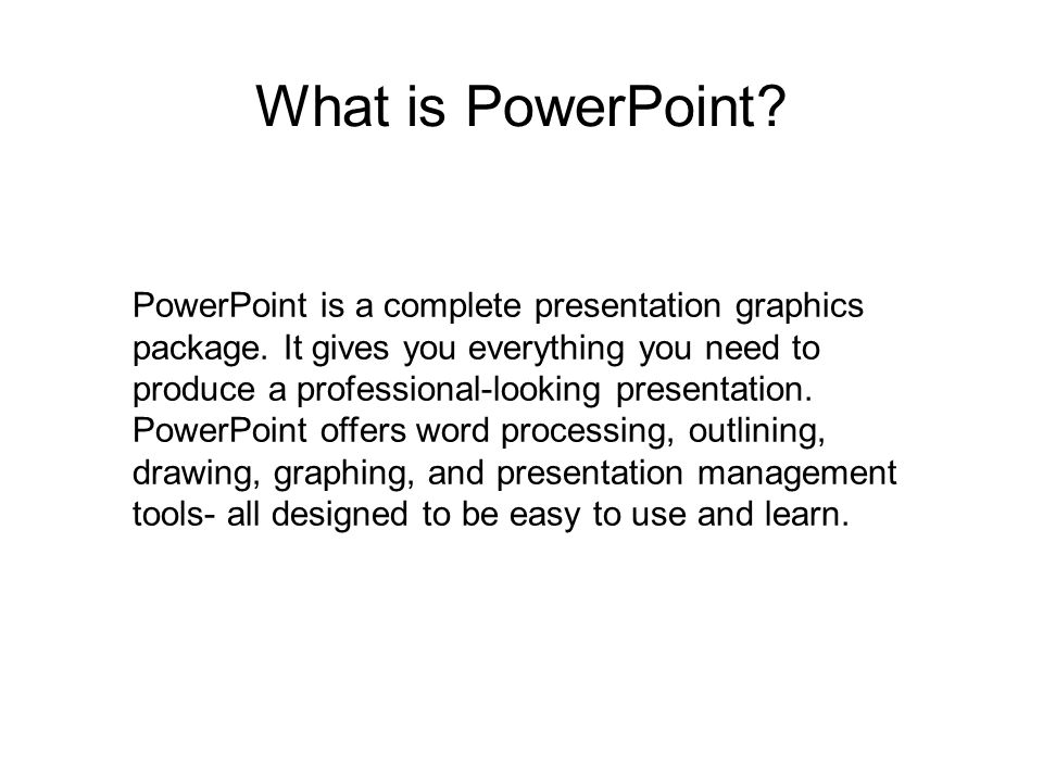 What is PowerPoint