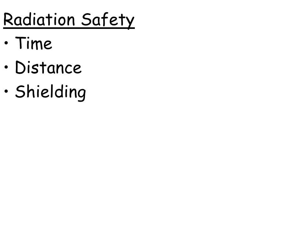 Radiation Safety Time Distance Shielding
