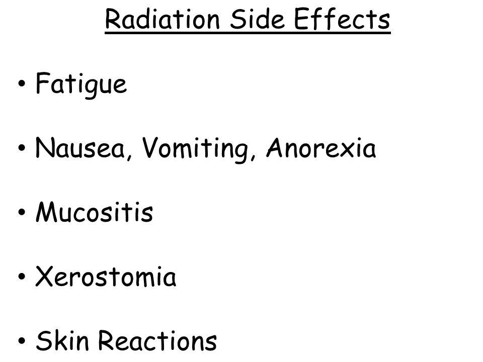 Radiation Side Effects