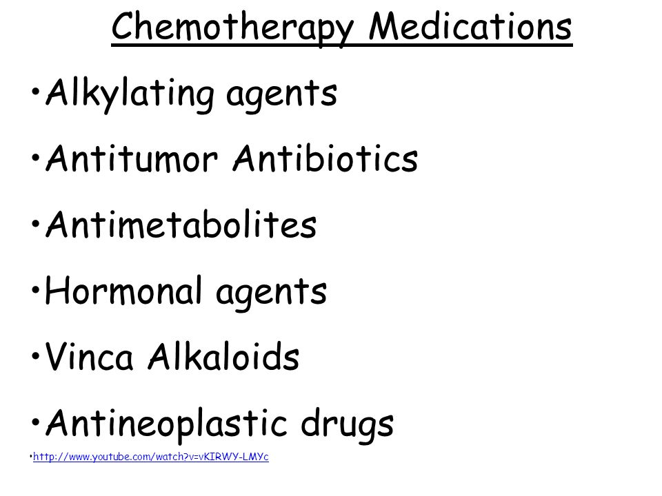 Chemotherapy Medications