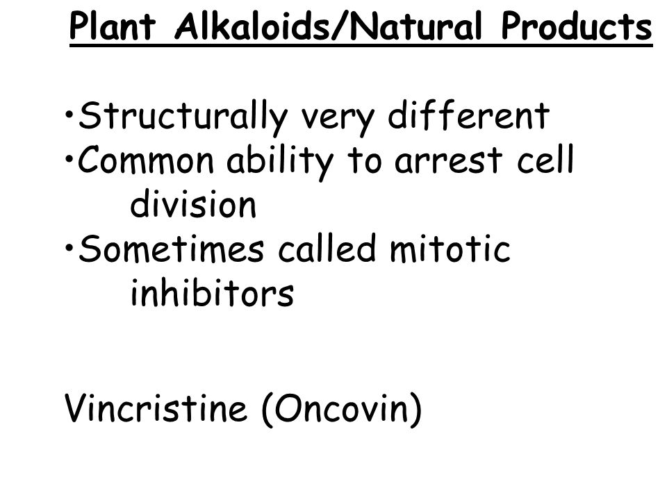 Plant Alkaloids/Natural Products