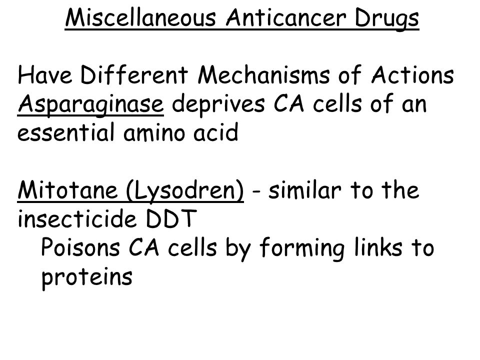 Miscellaneous Anticancer Drugs