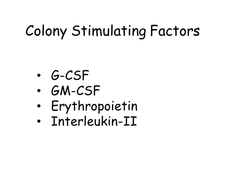 Colony Stimulating Factors