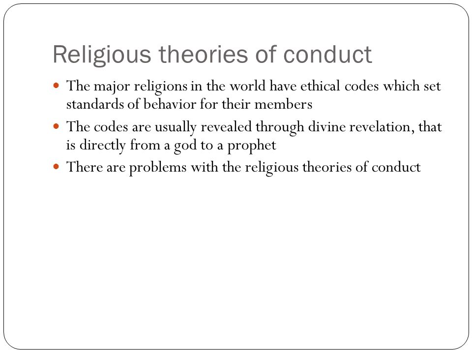 Religious theories of conduct