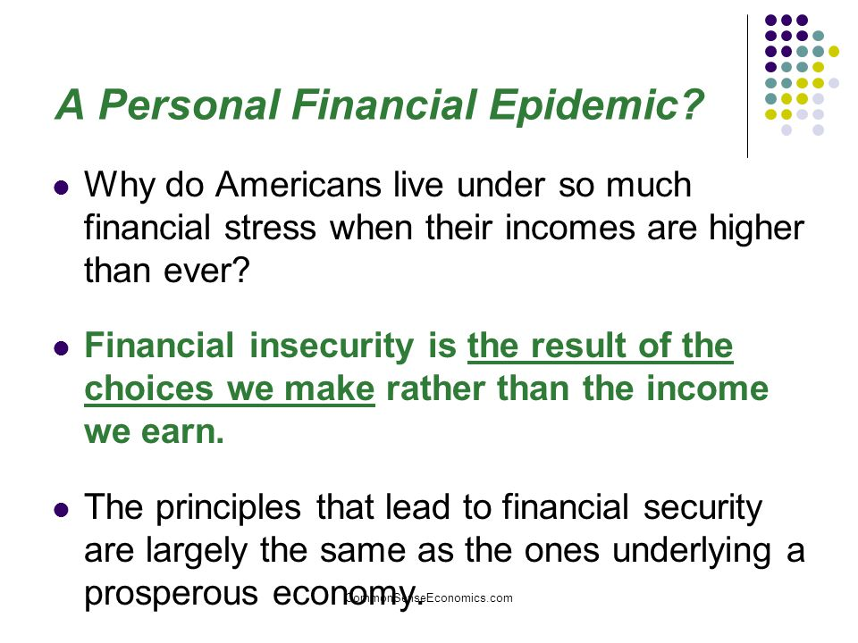 A Personal Financial Epidemic