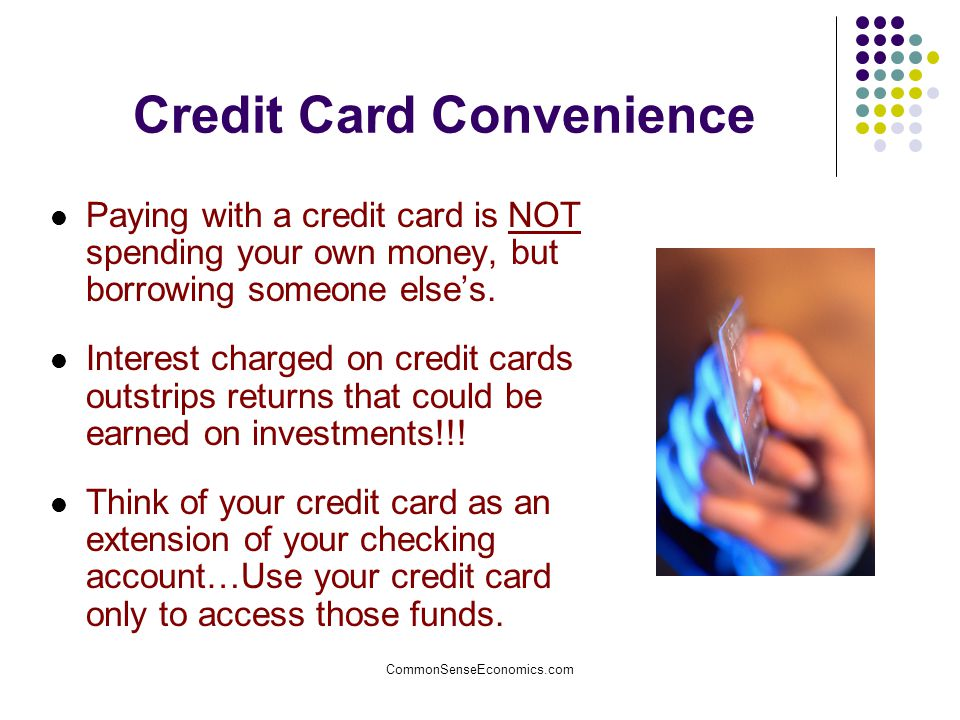 Credit Card Convenience