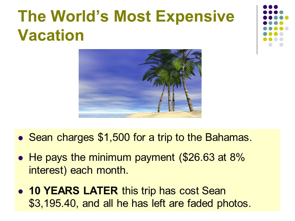 The World's Most Expensive Vacation