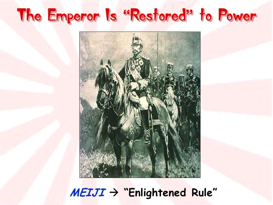 The Emperor Is Restored to Power MEIJI  Enlightened Rule